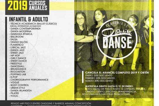 Cursos Anuales 2019 Academia Petite Danse