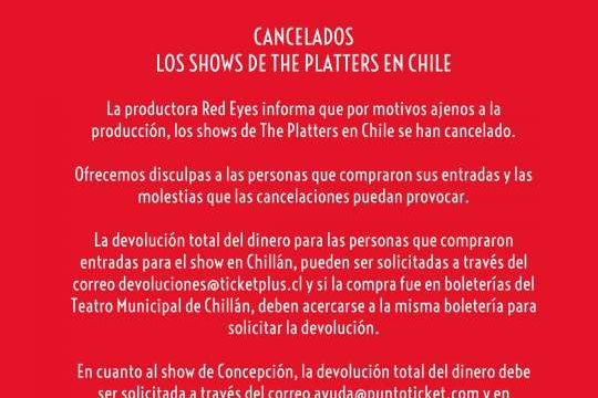 The Platters En Concepción Y Chillán