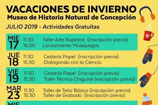 Vacaciones De Invierno 2019 En Museo De Historia Natural De Concepción