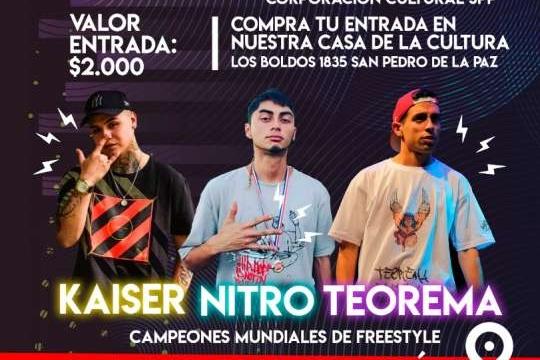 Kaiser, Nitro y Teorema en San Pedro de la Paz