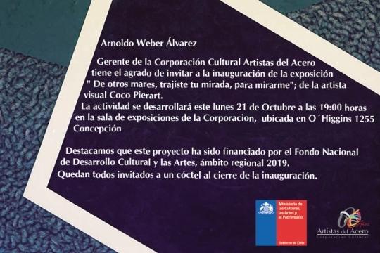 Inauguración Exposición: De Otros Mares, Trajiste Tu Mirada Para Mirarme